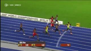 Berlin 2009 IAAF New World Record 100M