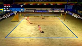 Power Spike Pro Beach Volleyball Exhibition Gameplay (PlayStation,PSX)