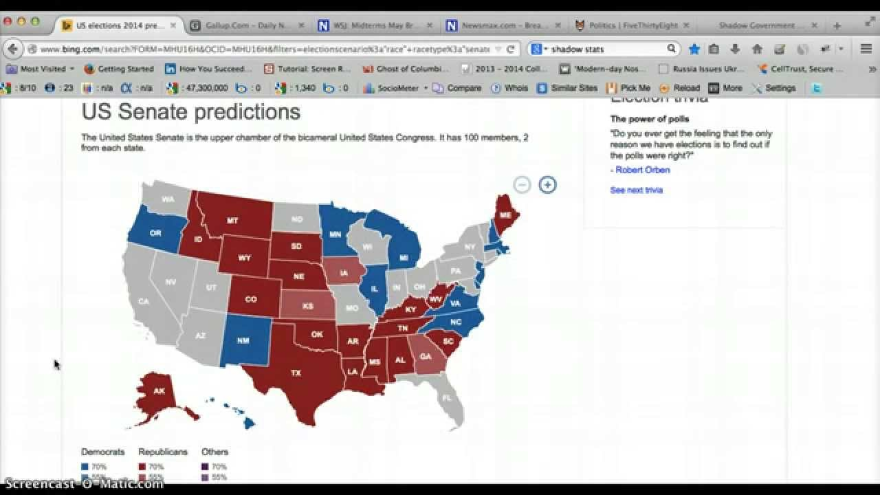 2014 Midterm Us Election Forecast And Predictions For Congress Senate And Gubernatorial Races