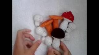 Белый гриб! Вязание крючком. Knitted mushrooms.
