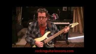 How to play Heavy Metal by Sammy Hagar on guitar by Mike Gross