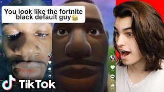 reacting to fortnite tiktoks, but I try not to laugh... (VERY HARD)