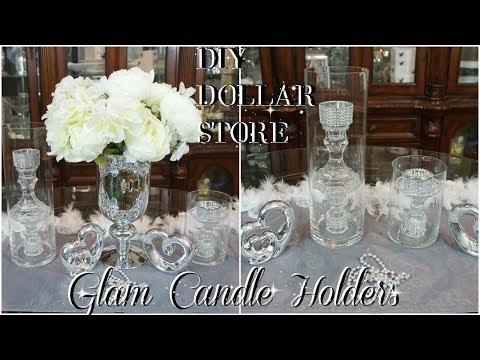 DIY | DOLLAR TREE GLAM CANDLE HOLDERS | DIY HOME DECOR IDEAS | PETALISBLESS