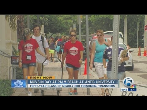 Move-in day at Palm Beach Atlantic University