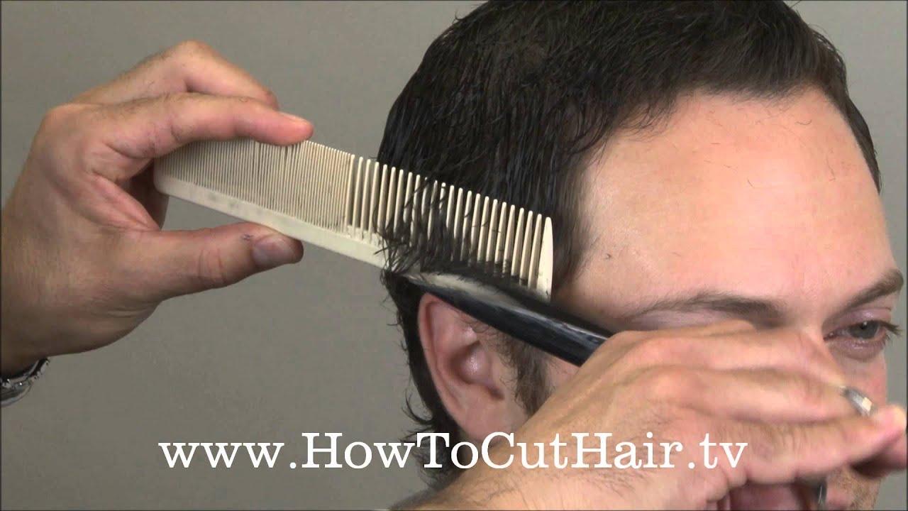 How To Cut Mens Hair Scissor Over Comb Barbering Tecnnique Youtube