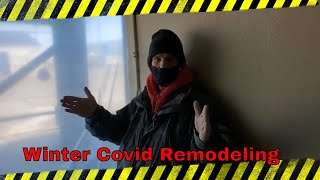 Winter covid remodel vlogmas (1) 2020 diy hotel renovation