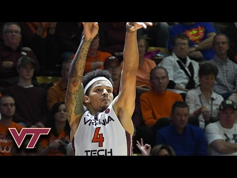 Virginia Tech's Seth Allen: Game-Winning 3-Pointer vs. Clemson