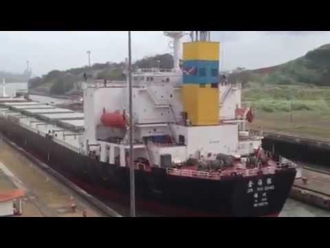 Panama Canal - Miraflores Locks in Action
