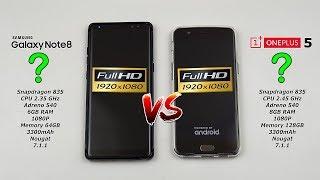 Samsung Note 8 vs OnePlus 5 1080P Speed Test Part 2 (1080P vs 1080P) [4K]