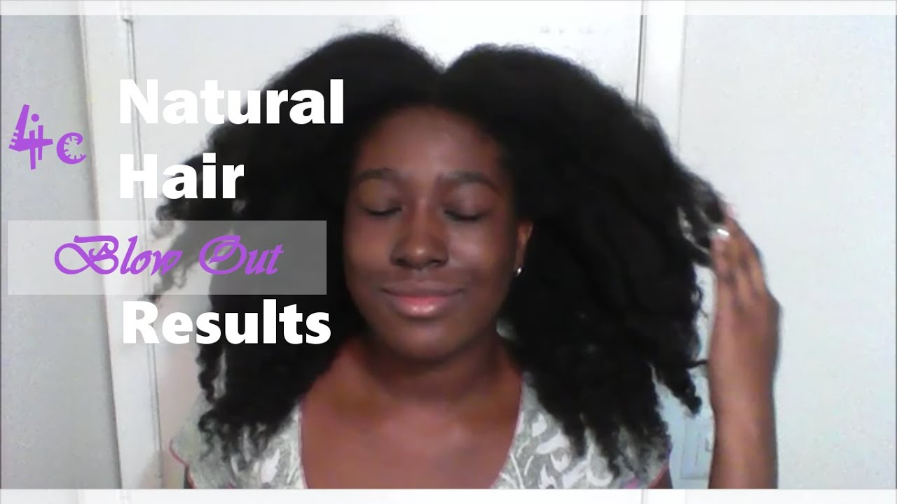 Results Of Heatless Blowout On Type 4c Hair