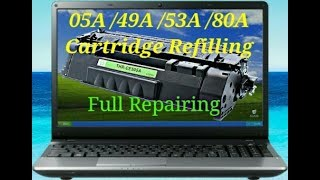 How to Refill HP CE505A ( 05A …