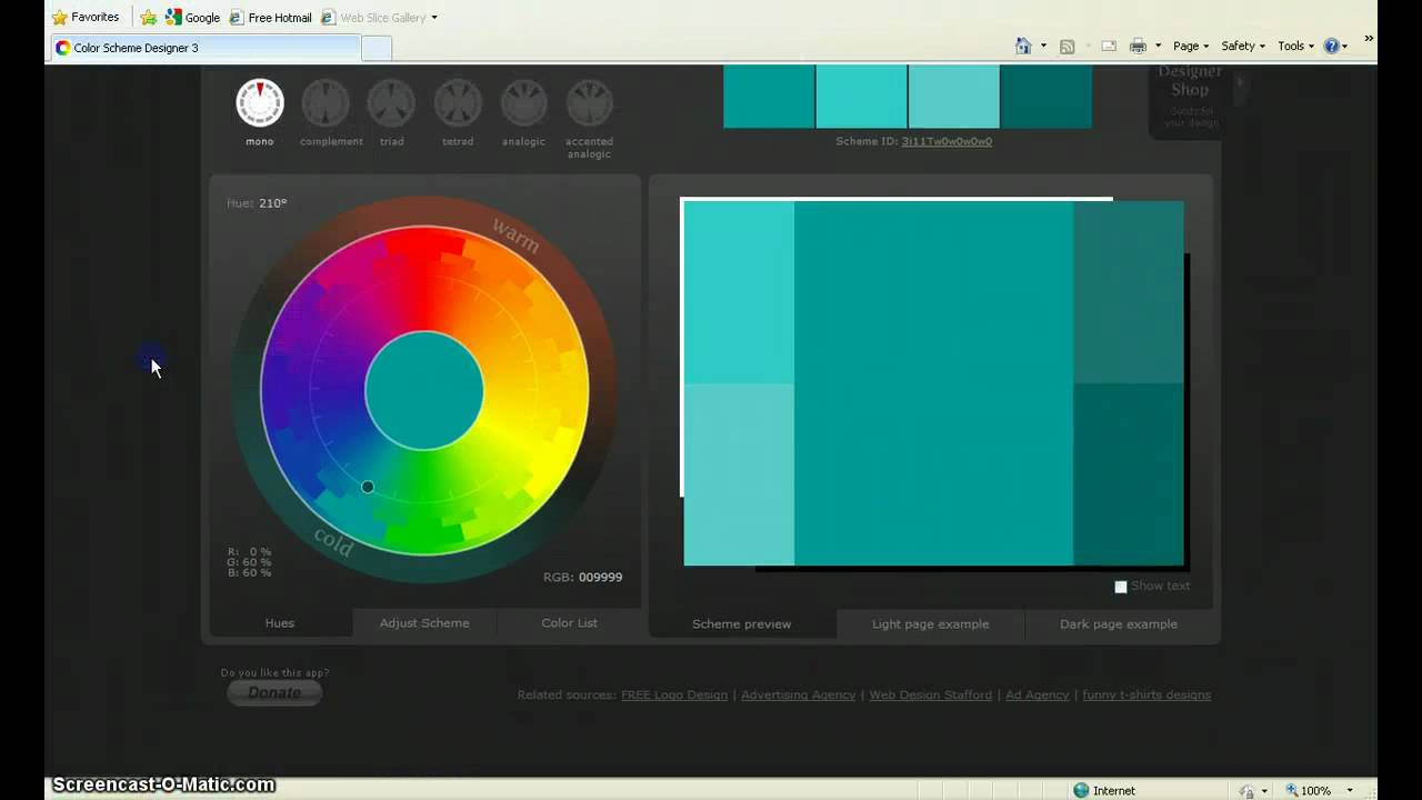 Color Scheme Designer introduction to color scheme designer 3