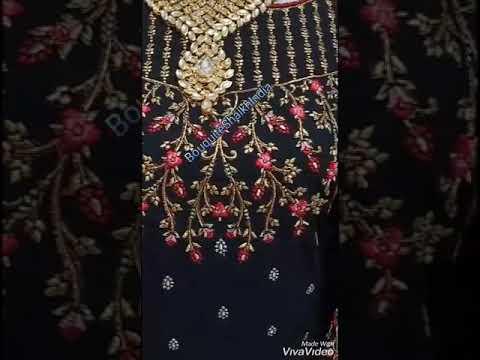 Black Color Anarkali Baju India Customer Order Indoneisa