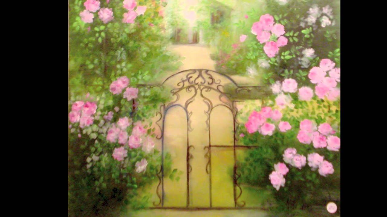 Selezione fiori olio su tela youtube for Quadri fiori olio