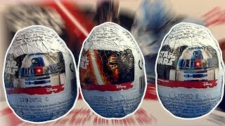 3 Star Wars Surprise Eggs Opening R2 D2 Kylo Ren with 3D face figurines #210