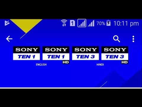 Sony Ten sports All Channel live on Android Phone live india