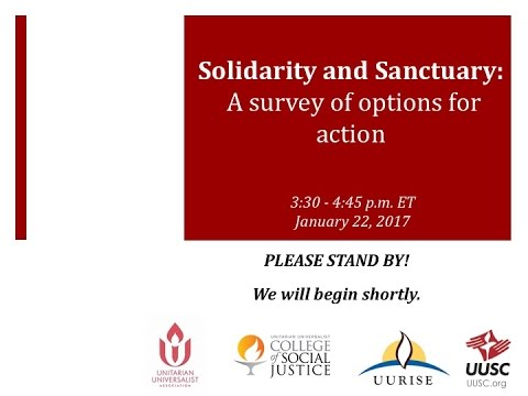 Solidarity and Sanctuary:  A Survey of Options for Action