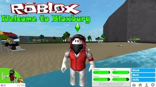 Welcome to Bloxburg Part 2: Roblox game Roblox in the Sims. Career home party with friends, fishing