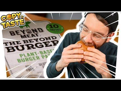 """Test: BEYOND MEAT BURGER - die """"Hype-Fleisch-Alternative""""? - feat SPACEFROGS 🍔🚫🐮 Copy & Taste CaT"""