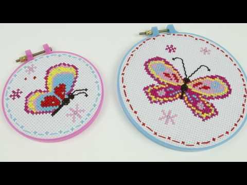 14658 SES Borduurset vlinders