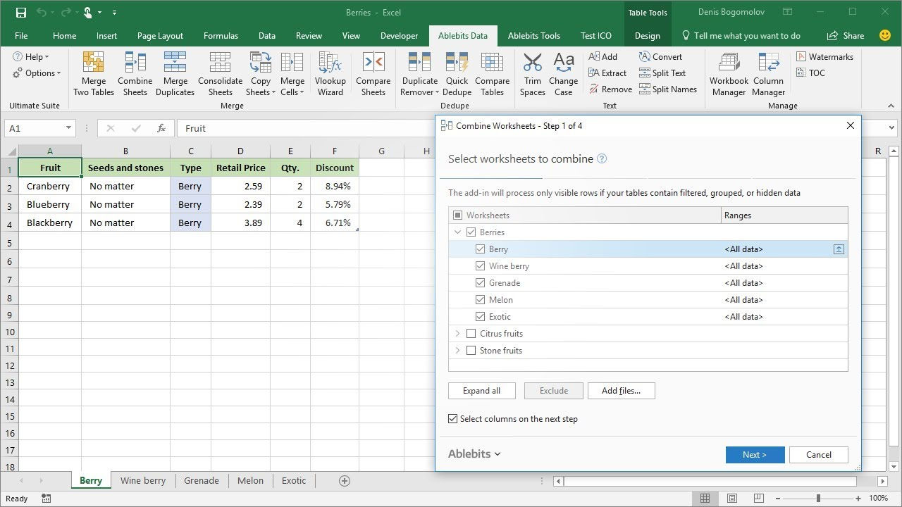 6 ways to combine Excel sheets with 1 add-in
