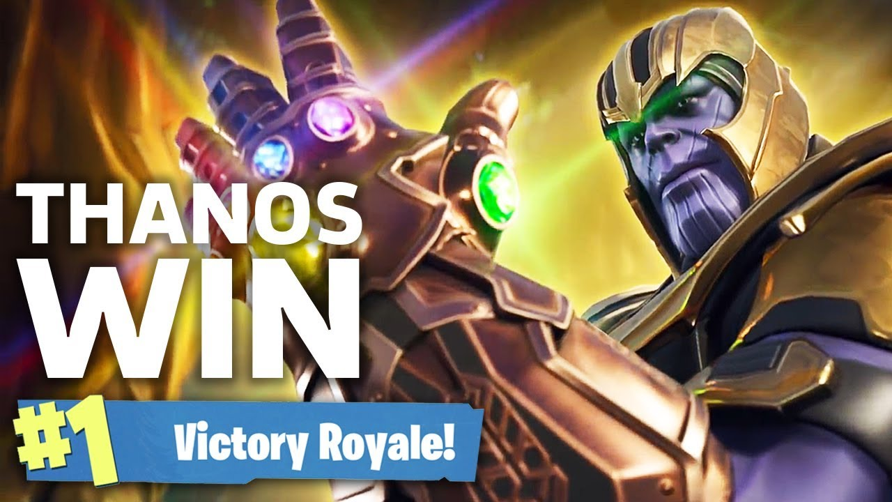 Fortnite Thanos Victory Royale Infinity Gauntlet Gameplay Youtube