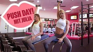 ♥ Push-Workout mit Julia ♥ Training zusammen mit Sophia Thiel