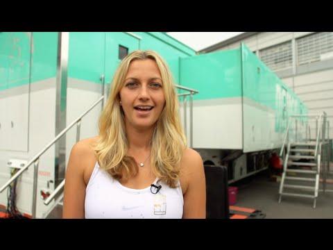Petra Kvitova   Behind the Scenes WTA Media Broadcast