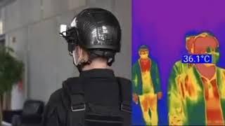 """קסדה כמו בסרט """"רובוקופ """": המצא חכמות שמודדות טמפרטורה מרחוק"""