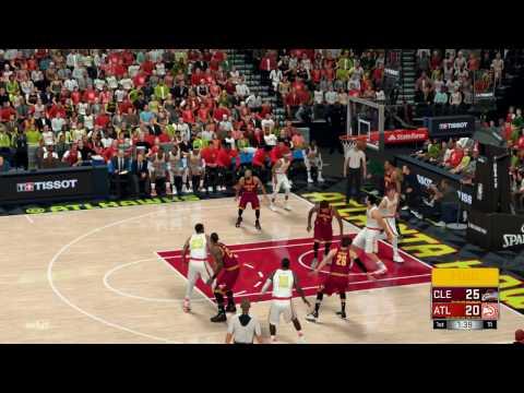 NBA 2K17 Cleveland Cavaliers vs Atlanta Hawks Full Game Simulation Nation