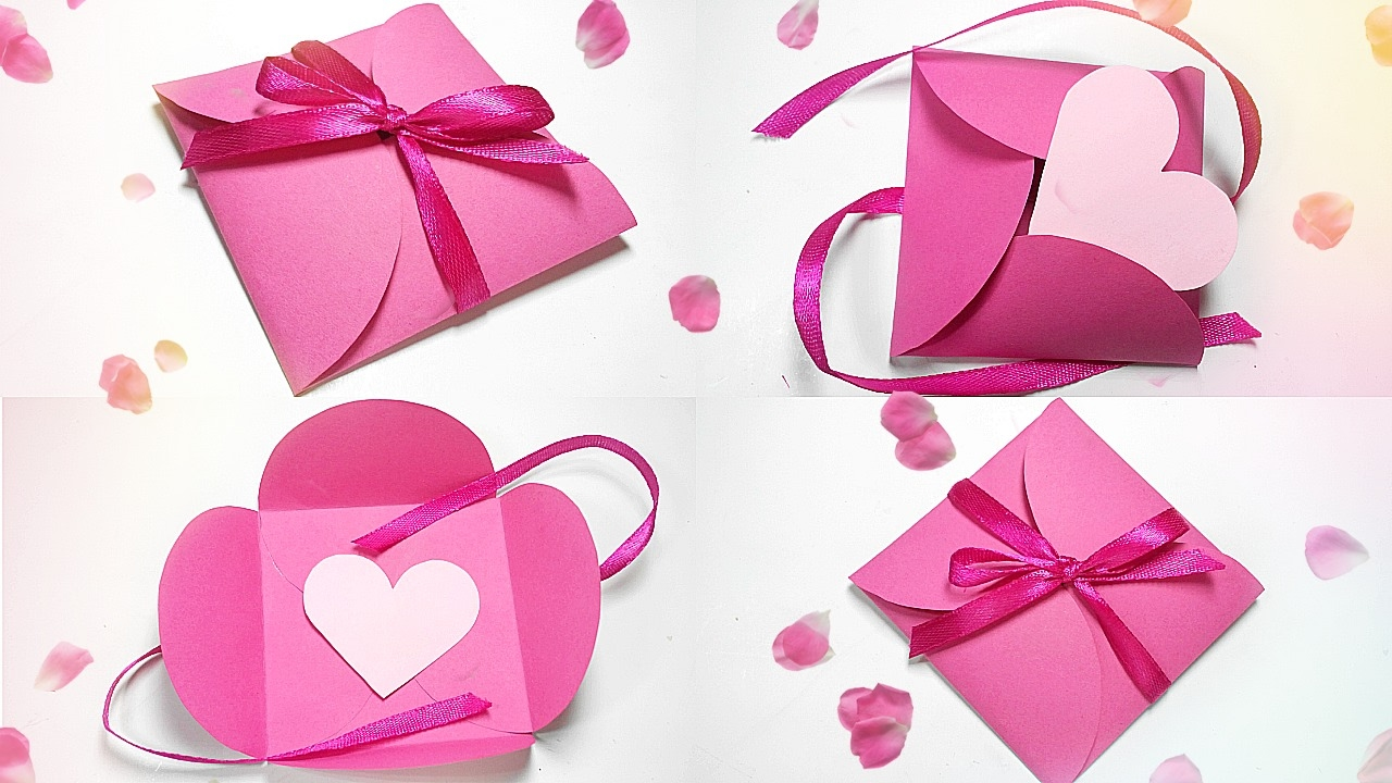 Paper Gift Box Love Diy Tutorial Making Easy Ideas Valentine Love