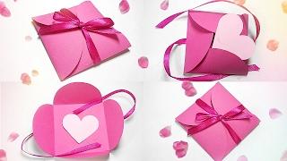 Paper gift box love diy tutorial making easy ideas/valentine love heartu0026 Envelope secret message