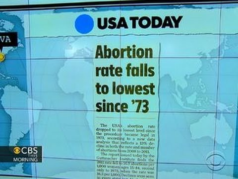 Headlines: Abortion rate falls to lowest since 1973