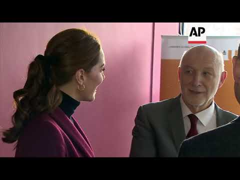 The Duchess of Cambridge visits UCL to learn about the facility's neuroscience and biology research