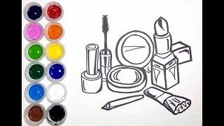 Dibuja y Colorea Herramientas de Maquillaje - Dibujos Para Niños - Learn Colors / MD Kids