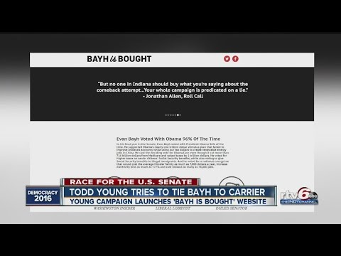 Todd Young ties Evan Bayh to Carrier