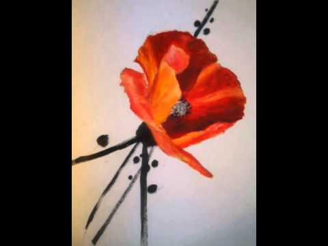 Coquelicot peinture youtube for Tableau de coquelicot en peinture