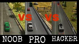 NOOB VS PRO VS HACKER In Game Traffic Racer screenshot 5