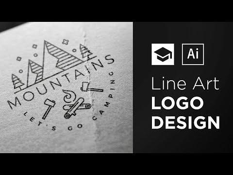 How To Design A Line Art Logo | Adobe Illustrator Tutorial