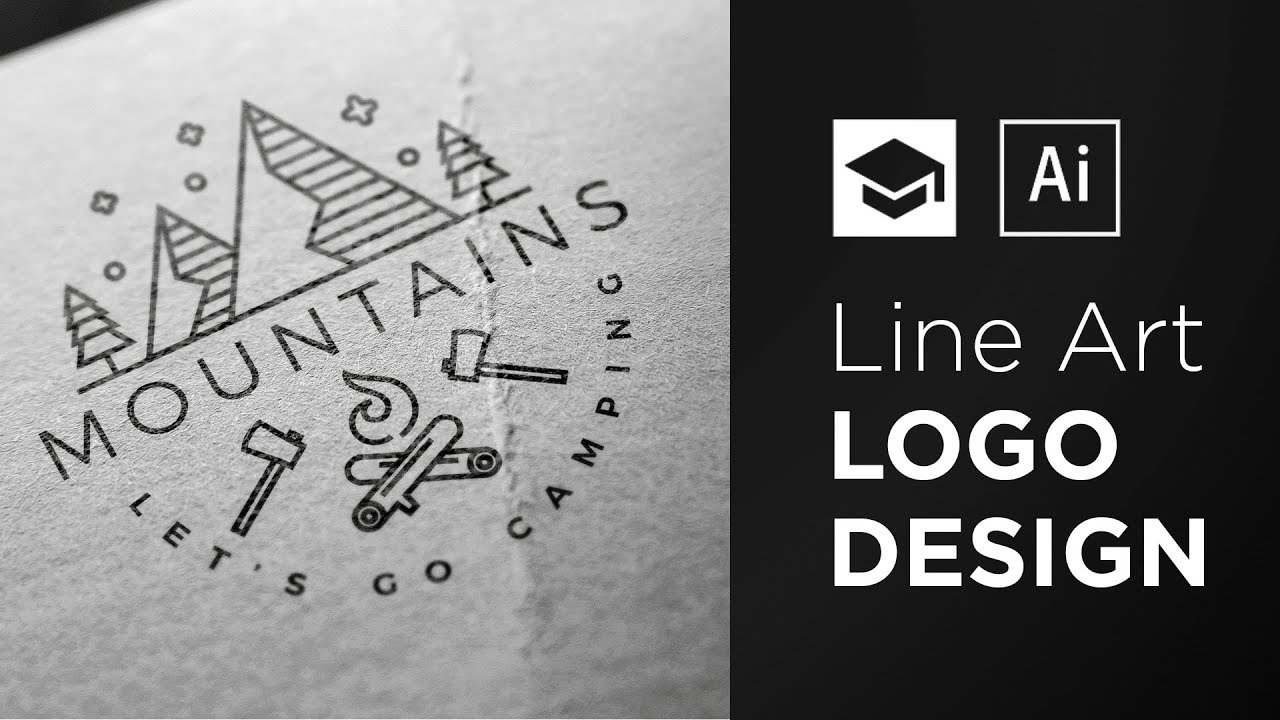 Line Art Logo Tutorial : How to design a line art logo adobe illustrator tutorial