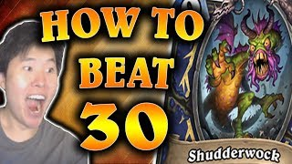 how to beat 30 shudderwocks quest priest the witchwood hearthstone disguised toast