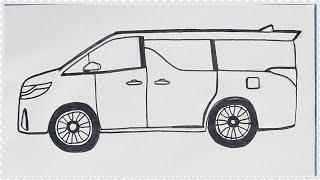 Cara Mudah Menggambar Mobil Toyota Alphard Warna Putih Tutorial Indonesia Youtube