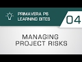 Learning Bites S02E04  - Managing Risk in Primavera P6 EPPM