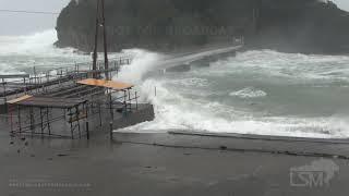 10-12-2019 Ebisu Island, Japan - Typhoon Hagibis making landfall in Honshu, Japan