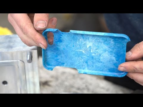 Make a phone cover from recycled plastic and CNC milling #preciousplastic