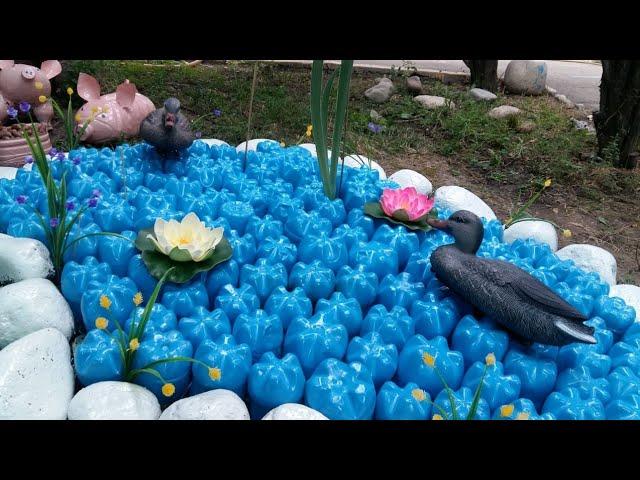 озеро из пластиковых бутылок своими руками фото открытии был