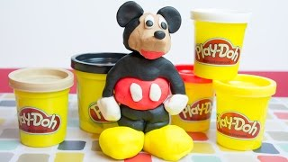 Mickey Mouse Clubhouse Play Doh - How to Make Mickey Mouse!