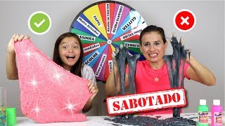 DESAFIO DA ROLETA MISTERIOSA DE SLIME SABOTADO!! (MYSTERY WHEEL OF SLIME CHALLENGE) thumbnail