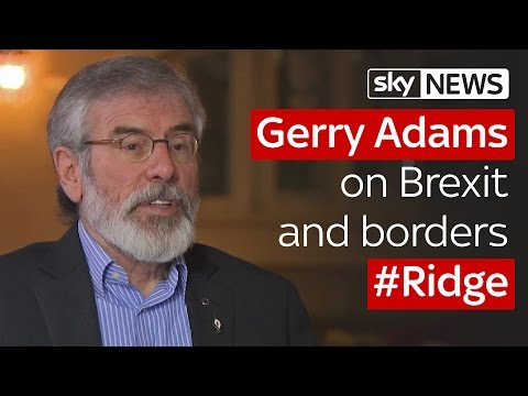 Gerry Adams tells Sky News he would talk about his past in Northern Ireland