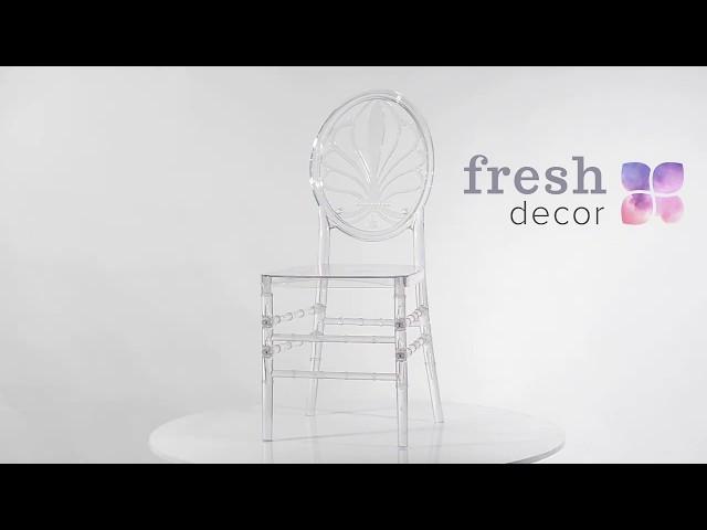 Прозрачный стул для кухни Tiffany , обзорное круговое видео на 360 градусов новая модель 2020 года